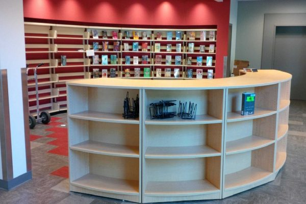 Curved Modular Library Bookcases