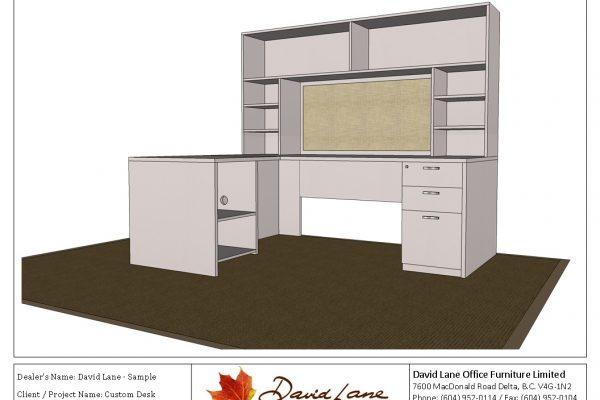 Custom Desk & Hutch