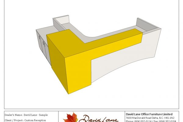 Custom Two Color Reception Desk