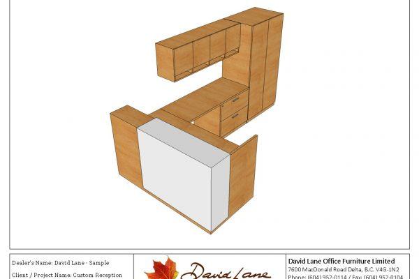 Custom Reception With Storage