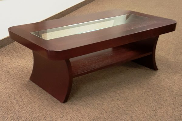 Glass & Veneer Coffee Table