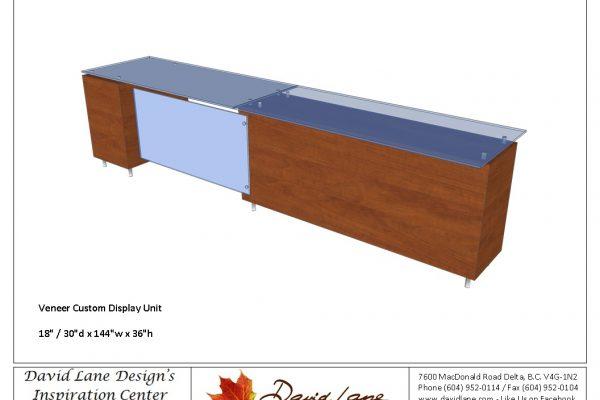 Glass & Veneer Display Cabinet