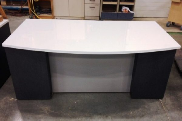 Dual Color Bow Front Desk