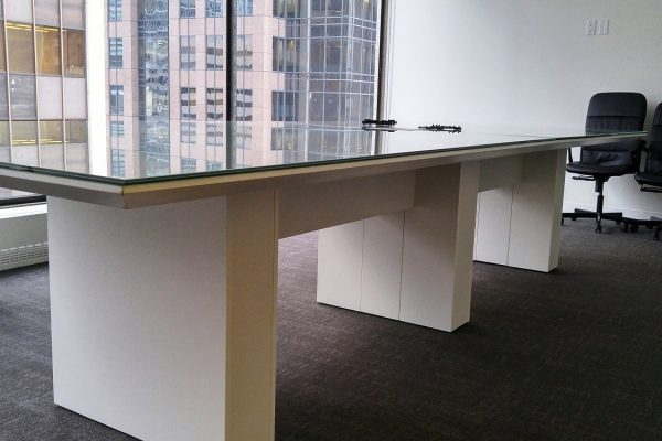 Polar Lami Glass Top Boardroom Table