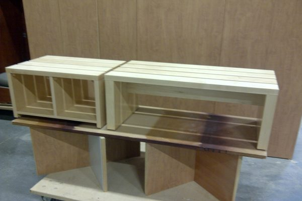Small Solid Wood Slat Bench