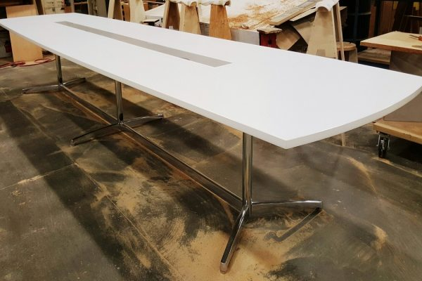 Laminate Table With Metal Y Bases
