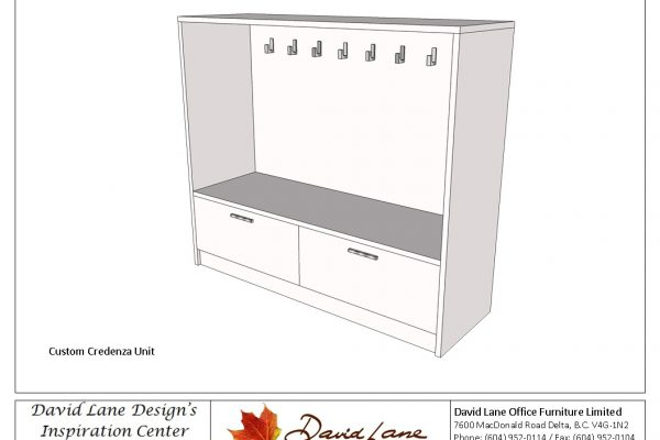 Lateral File Storage Unit With Coat Hooks