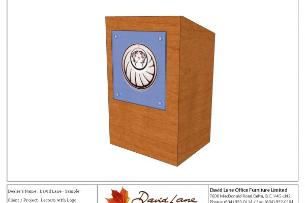 Lectern With Glass Logo