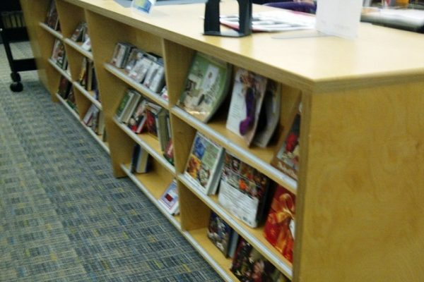 Library Magazine Display Rack