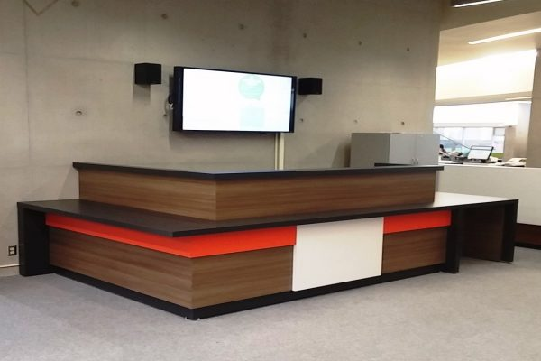 Multi Colored Laminate Reception Desk