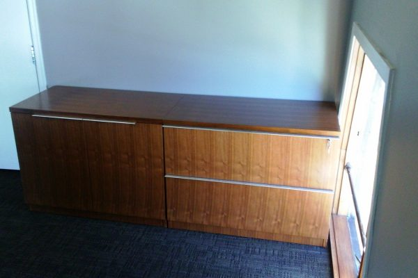 1/4 Walnut - Lateral File / Storage Credenza
