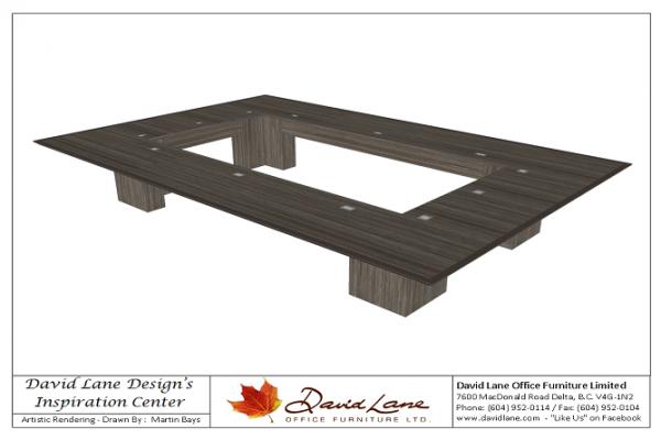 Open Center Boardroom Table