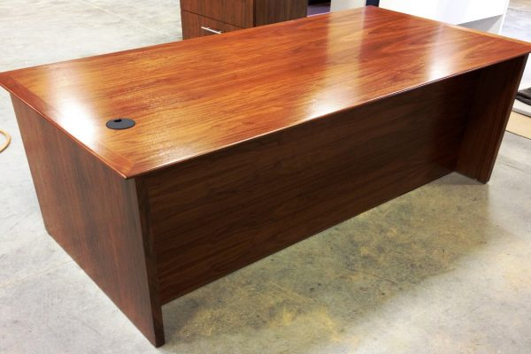 Rectangular Walnut Veneer Desk