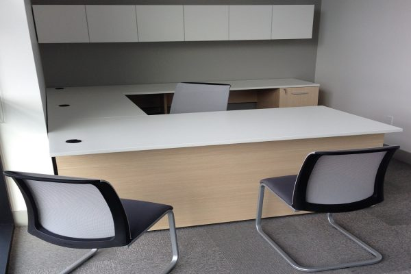 White & Maple Desk Suite