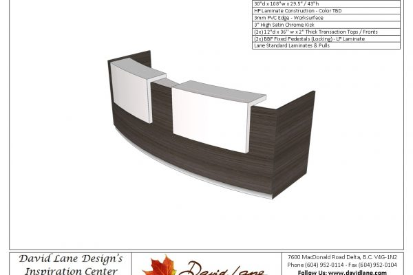 Two Person Curved Reception Desk