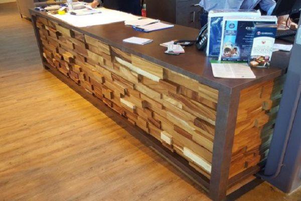 Reception Desk - Multi Level Random Blocks