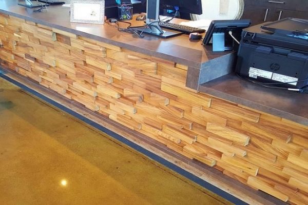 Reception Desk - Multi Level Random Blocks