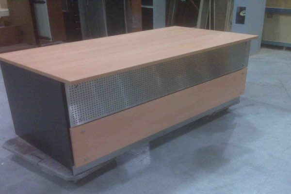 Rectangular Desk - Mesh Front Panel