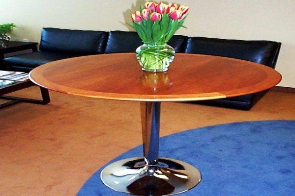 Veneer Table With Solid Wood Edge