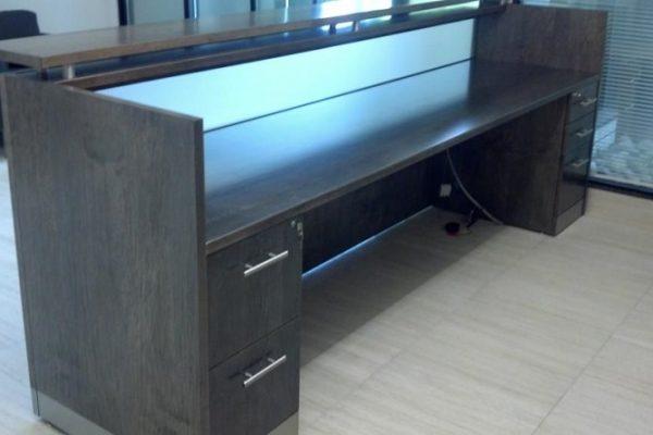 Veneer Glass Panel Reception Desk