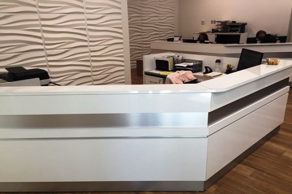Reception - White Laminate Transaction Corner