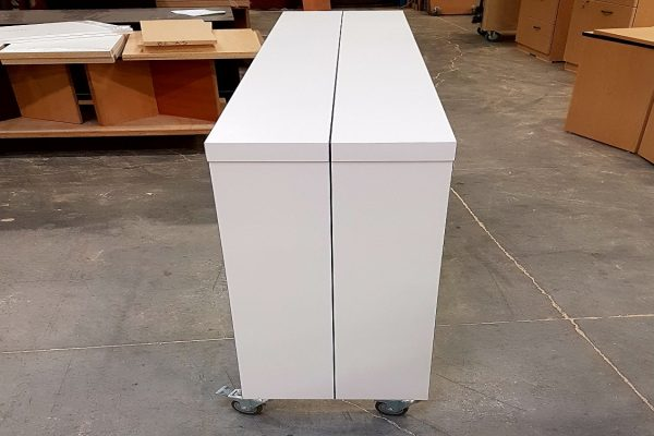 """Mobile Laminate Table 16"""" X 84"""" With Painted Saw Cut Revel"""