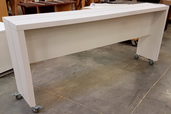 "Mobile Laminate Table 16"" X 84"" With Painted Saw Cut Revel"