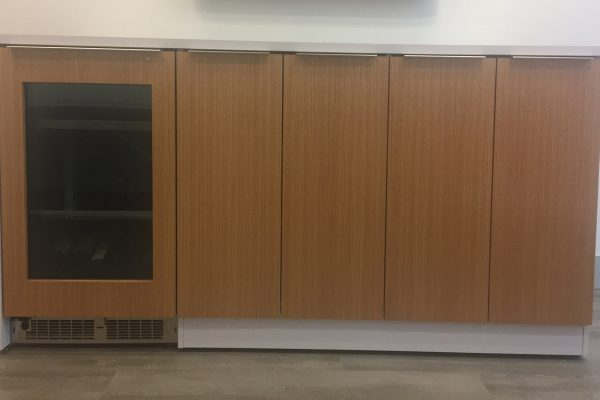 Laminate & Veneer Credenza With Grain Matched Fridge Door
