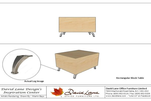 Rectangular Block Table - HP Laminate Or Veneer