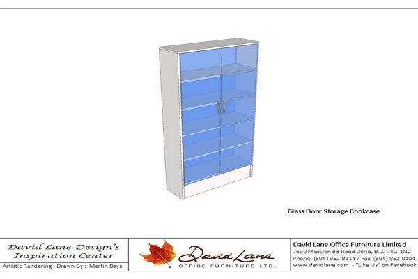Glass Door Storage Bookcase