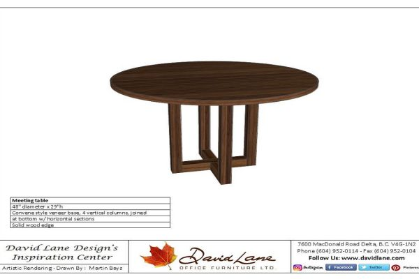 Round Table With Stylish Wood Base