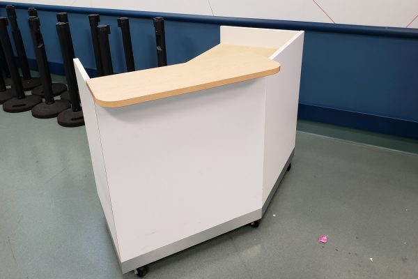 Mobile High-Pressure Laminate Single Guest Check-In Counter