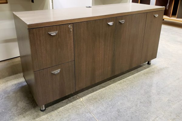 File - Storage Credenza With Recycling Bin