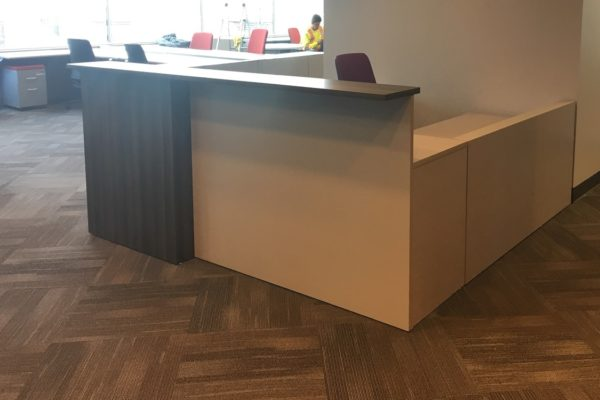 Two Tone Laminate Reception Desk