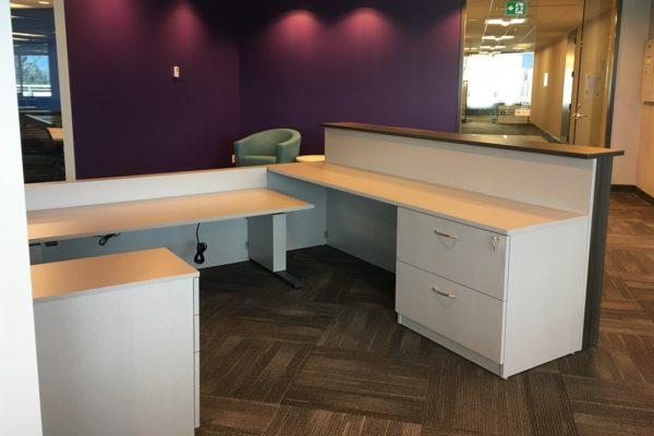 Two Tone Laminate Reception Desk