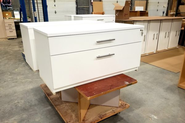 Custom Lateral File With (1) Small Drawer (1) Large Drawer