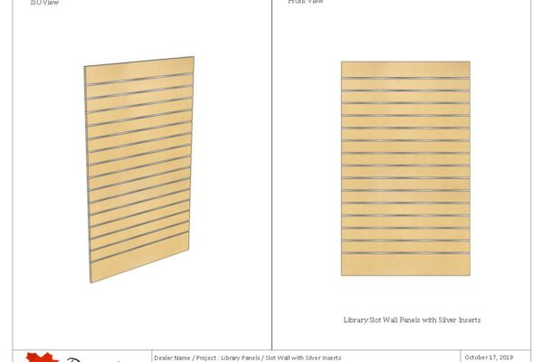 Library Panels - Slat Wall With Inserts