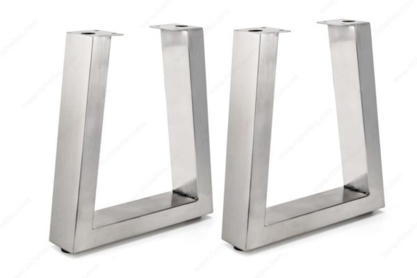 Metal Tapered Bench Legs - Stainless Or Black