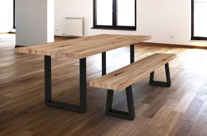 Veneer / Laminate Or Butcher Block Table & Bench