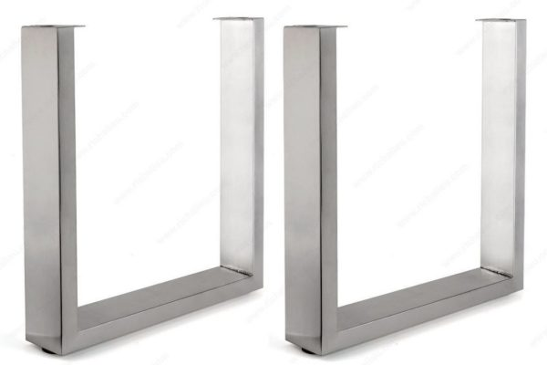 Metal Table Legs - Stainless Or Black