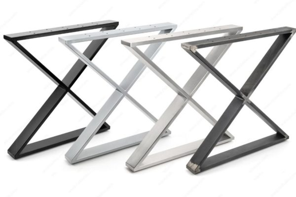 Table X Legs - Stainless / Black / Black Iron / Matte Chrome