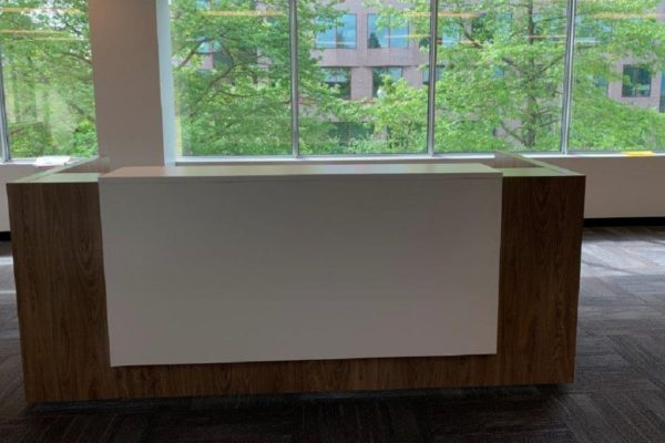 Two Person Height Adjustable Reception Desk