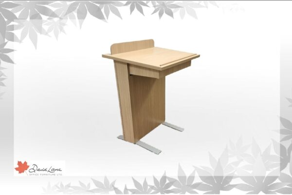 Mobile Lectern Complete With Slide Out Shelf & Wire Access