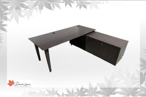 Veneer & Desk & Credenza Featuring Solid Wood Legs