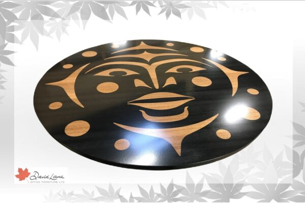 Anigre Veneer Logo Inlay For Boardroom Table Center Piece