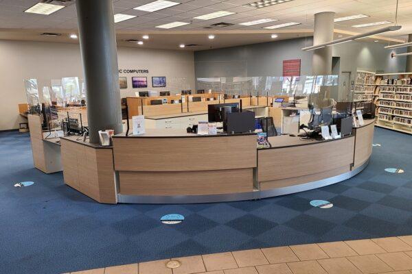 Height Adjustable - Custom Library Circulation Desk